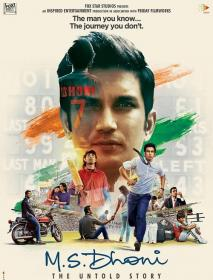 M S  Dhoni The Untold Story (2016)[720p Blu-Ray - [Tamil + Hindi + Telugu] - DD 5.1 (640Kbps - Untouched)]