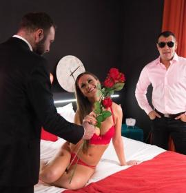 Tina Kay (Naughty British babe Tina Kay gets DP by her Spanish lovers in MMF action)