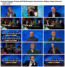 University Challenge Christmas 2019 E02 Birmingham City University v Wadham College Oxford