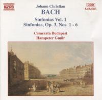 Johann Christian Bach Sinfonias, Vol  1 - Camerata Budapest, Hanspeter Gmur