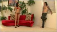 Sunny Leone  - F Hard On Red Sofa